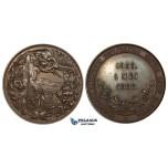 ZM291, Netherlands, Bronze Medal 1888 (Ø42mm, 30.57g) Amsterdam Zoological Cooperative