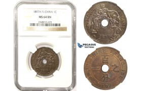 ZM329, French Indo-China, 1 Centime 1897-A, Paris, NGC MS64BN