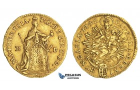 ZM421, Hungary, Maria Theresia, Ducat 1742 K-B, Kremnitz, Gold (3.49g) EF