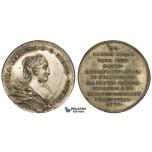 ZM474, Sweden, Silvered Bronze Medal (1720) (Ø34mm, 14.5g) by Hedlinger, Ulrika Eleonora