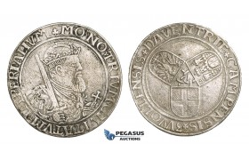 ZM506, Netherlands, Deventer, Campen & Zwolle, Taler ND (1554) Silver (26.60g) Cleaned VF, Del. 671 (R2) Rare!