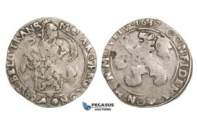 ZM508, Netherlands, West Friesland, Lion Daalder (Taler) 1637, Silver (26.88g) Bold struck VF
