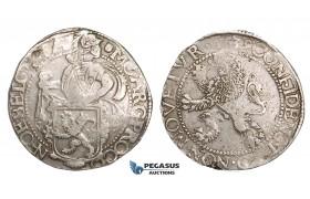 ZM509, Netherlands, West Friesland, Lion Daalder (Taler) 1639, Silver (26.99g) aXF