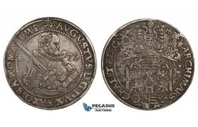 ZM537, Germany, Saxony, August, Taler 1579 HB, Dresden, Silver (28.99g) VF+
