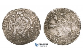 ZM542, Netherlands, West Friesland, Lion Daalder (Taler) 1616, Silver (26.73g) VF