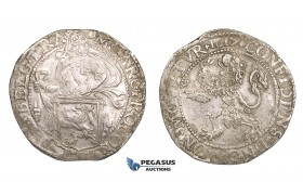 ZM544, Netherlands, West Friesland, Lion Daalder (Taler) 1617, Silver (27.20g) aXF