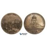 ZM59, Germany & France, Leipzig, Bonze Medal 1913 (Ø59mm, 83.3g) Battle of Nations Centenary
