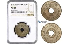 ZM599, Palestine, 10 Mils 1935, NGC MS61