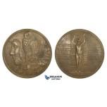 ZM646, Austria, Bronze Art Nouveau Medal 1908 (65mm, 104g) Owl, Ministry of Culture Award