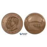 ZM653, Germany, Wilhelm II, Bronze Medal 1895 (Ø60mm, 78g) by Lauer, Kiel Canal, Ships