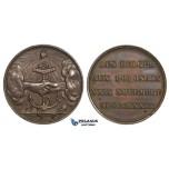 ZM663, Belgium & Poland, Bronze Medal 1833 (Ø27mm, 10.6g) November Uprising, Navy
