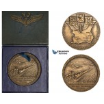 ZM672, Sweden, Bronze Medal 1941 (Ø44.8mm, 36.1g) Train, Malmö – Ystad Railroad
