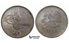 ZM677, Ottoman Empire, Egypt, Abdul Aziz, 20 Para AH1277/9, Misr (12.46g) XF