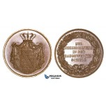 ZM696, Germany, Saxony, Bronze Medal ND (Ø34.2mm, 20.78g)  For School Constructions, Very Rare!!
