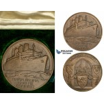 ZM700, Great Britain, Bronze Medal 1936 (Ø70mm, 169g) by Gilbert Bayes, RMS Queen Mary, Maritime