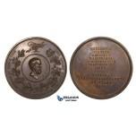 ZM705, Sweden, Bronze Medal 1858 (Ø56mm, 65.5g)  Hippocrates, Berzelius, Medicine Association