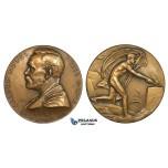 ZM709, Sweden, Bronze Medal 1926 (Ø45mm, 39g) by Lindberg, Alfred Nobel, Medicine