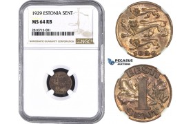 ZM799, Estonia, 1 Sent 1929, NGC MS64RB
