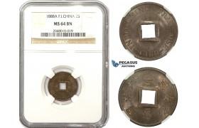 ZM848, French Indo-China, 2 Sapeque 1888-A, Paris, NGC MS64BN