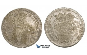 ZM85, Ragusa, Tallero rettorale 1765 GB, Silver (28.63g) AU, light scratch, Adjustment marks