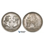 ZM957, France, Silver Medal 1745 (Ø42mm, 30.4g) Wedding of Crown Prince to Maria Theresia of Spain