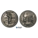 ZM965, Germany, Silver Medal 1900 (Ø50.5mm, 41.3g) by Kissel & Mayer, 500 Year Anniversary of Johannes Gutenberg