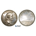 ZM970, Sweden, Silver Medal 1783 (Ø36mm, 24.9g) by Fehrman, Pehr Wilhelm Wargentin, Astronomy, Rare!