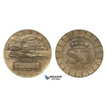 ZM978, Sweden, Art Deco Bronze Medal 1931 (Ø50mm, 44.1g) by Sporrong & Co., Train, Railroad