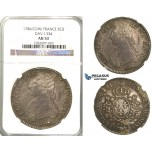 "Lot: 2382. France, Louis XVI, 1774-­1792, Ecu 1786 ""Cow"", Pau, Silver, NGC AU53"