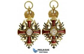 "A00, Austria, Order of Franz Joseph, Gold/Enamel, ""V. Mayer's Sohne"" 57x30mm, 14.15g"