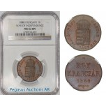 A19, Hungary 1 Krajczar 1848, War of Independence, NGC MS62BN