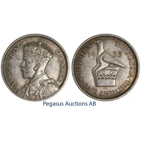 A50, Southern Rhodesia (Zimbabwe) George V, Shilling 1935, Nice!