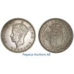 A54, Southern Rhodesia (Zimbabwe) George VI, Half Crown 1940, Very Nice!