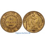 A97, France, Third Republic, 20 Francs 1887-A, Gold, 6.45g. 0.900, Nice!