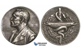 AA022, Sweden, Silver Medal ND (Ø27mm, 11.8g) Alfred Nobel, Swedish Medical Society