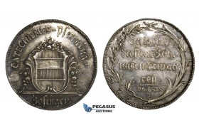 AA023, Switzerland, Zofingen 18th Century Silver Catechism Pfennig (Katechismuspfennig) Ø33mm, 10.7g
