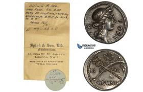 AA024-R, Roman Republic, Q. Sicinius (49 BC) AR Denarius (3.99g) Rome, 49 BC, Old cabinet parina, ex. Spink