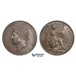 AA030, Great Britain, George IV, Half Penny 1826, Some remaining luster, EF