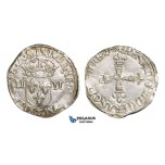 AA113, France, Henry III, 1/4 Ecu 1579-T, Nantes, Silver (9.69g) Kop. 10380 for Poland (R2) Lustrous AU