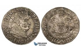 AA124, Poland, Danzig, Stefan Bathory, Groschen 1579, Danzig, Silver (1.53g) Some corrosion, VF-XF