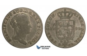 AA160, Poland, Stanislau August, 8 Groschen - 2 Zloty 1791 EB, Warsaw, Silver (9.02g) F+