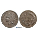 AA167, United States, Indian Cent 1873 open 3, Philadelphia, XF-AU