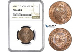 AA399, German East Africa (DOA) Pesa 1890, Berlin, NGC MS65RB
