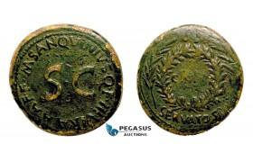 AA750, Roman Empire, Augustus (27 BC - 14 AD) Æ Sestertius (24.06g) Rome, 17 BC, M SANQVINIVS, Rare!