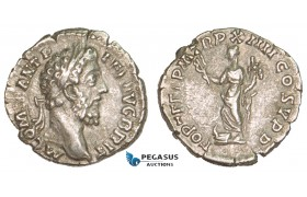 AA754, Roman Empire, Commodus (177-192 AD) AR Denarius (2.48g) Rome, 188-89 AD, Fortuna