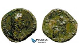 AA755, Roman Empire, Cornelia Salonina (Augusta, 254-268) Æ Sestertius (15.47g) Rome, Vesta, Rare!