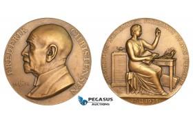 AA787, Denmark, Bronze Medal 1935 (Ø55mm, 83g) Frederik Christensen, Numismatic Society