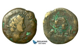 AA792, Roman Provincial, Egypt, Alexandria, Otho (69 AD) Æ Drachm (19.10g) Dated RY1 (Jan-Apr. 69 AD) Nike, Extremely Rare!