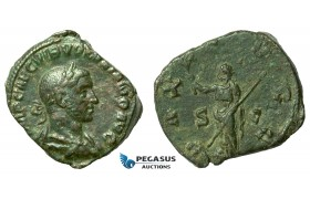 AA793, Roman Empire, Volusianus (251-253 AD) Æ Sestertius (20.40g) Rome, 251-53 AD, Pax