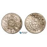 AA795, Argentina, Cordoba, 1 Real 1841 JPP, Silver, XF-AU